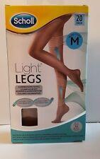 Scholl Light Legs Compression Tights 20 Den Nude, Medium Skin Colour M