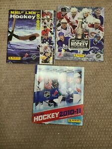 2008- 2011 Panini Hockey Sticker Albums Unused. Sticker sheets included in album