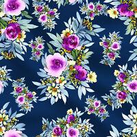 Floral bedruckt von 1 Yard Baumwolle Handwerk Stoff  Nähen   44breit verkauft