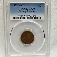 1922 No D LINCOLN CENT Strong Reverse >VF20 PCGS< SUPER FAST SHIPPING!!!