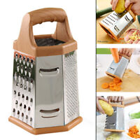 Kitchen Food Grater Shredder Slicer 6 Sided Stainless Steel Box Kitchen Supplies