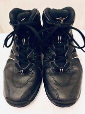 MIZUNO Leather Shoes Men Size JPN 25cm US 7 BLACK Wave Diverse LG3 Dance Fitness