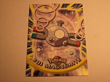 #81 Magnemite - 2000 Topps Pokemon Series 2 Official Trading Card Blue Logo