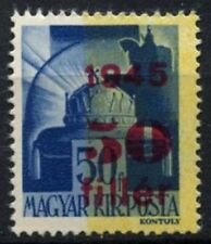 Hungary 1945 SG#810, 50f On 50f Blue/Yellow MNH Error Half Yellow Missing#D73007