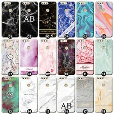 Personalised Marble Phone Case/Cover for Huawei Honor Initial/Name/Custom/Text