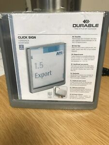 Durable 486237 CLICK SIGN, Door/Wall Signage, 149x148.5mm, Graphite