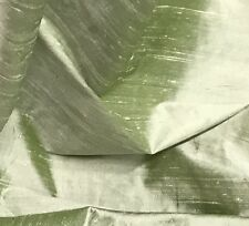 "GREEN 2TONE 100% SILK DUPIONI FABRIC 54"" WIDE 1 YARD"