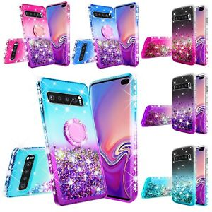 For Samsung Galaxy S10/S10 Plus/S10e Liquid Glitter Bling Phone Case Cover
