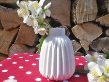 Vase SINA weiß 11 cm Blumenvase Keramik skandinavische Deko Hochzeit Tischdeko