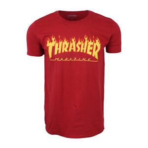 THRASHER SKATEBOARD MAGAZINE MENS T SHIRT FIRE PRINT
