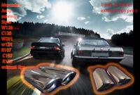 Mercedes Amg sebring Style W126 C126 w124    R107 C107 R129 exhaust tips W201