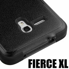 Alcatel One Touch Fierce XL 5054N - HYBRID HIGH IMPACT ARMOR CASE COVER BLACK