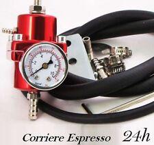 Regolatore di pressione benzina con manometro universale fino 10bar auto turbo