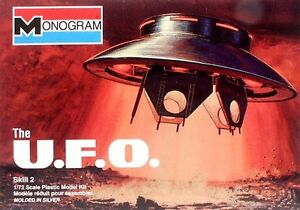 2003 Discontinued monogram 6012 1/72 THE UFO from the TV show The Invaders new