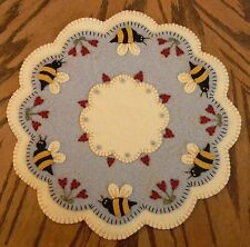 ~*Bee My Honey Bee*~Spring/Summer Penny Rug/Candle Mat PATTERN Applique