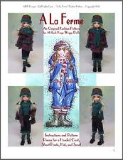 """A La Ferme"" 18 inch Ball Jointed Doll BJD Kaye Wiggs Fashion Clothing Pattern"