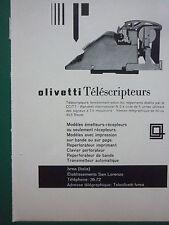 6/1959 PUB IVREA ITALIA OLIVETTI TELEPRINTERS TELESCRIPTEUR ORIGINAL FRENCH AD
