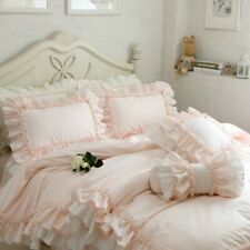 Throw Pillow Case Cushion Covers Flounce Ruffle Lace Cotton Bed Sofa Home Garden