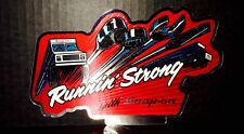"Vintage 1987 SNAP-ON TOOLS Foil ""Runnin' Strong""  Decal 7x4 sticker"