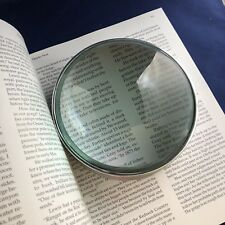 "Creative Co-op 6"" Aluminum and Glass Magnifying Glass ~ New ~ Free Shipping!"
