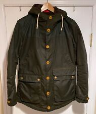 Barbour Game Parka Waxed Coat Mens Medium.