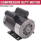 5 HP SPL 1 Phase 3450RPM Electric Air Compressor Duty Motor 56 Frame 5/8' Shaft