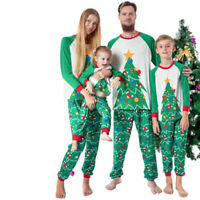 Children Adult Family Matching Christmas Pajamas Sleepwear Nightwear Pyjamas WCP