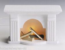 Kahlert 41663 Kamin mit Licht weiß 10x6,5x5 cm 1:12 für Puppenhaus NEU!    #