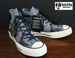Converse Mens Chuck 70 Hi Gore-Tex Leather Grey/Black/Egret 163227C Multi Sz NWB
