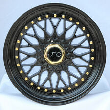17x8.5 JNC JNC004 004 5x100/5x114.3 15 Gloss Black. Wheel New set(4)
