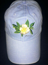 Ball Cap with Embroidered Magnolia and State of Alabama Bimini Bob's blue NEW