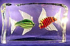 Huge ELEGANT Art Glass VENICE ITALY Murano Sculpture Fish AQUARIUM Block Signed
