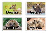 Personalised Animal Fridge Magnet - Add any name *Great Gift* Choice of 30+