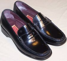 WOMEN SHOES  COLE HAAN LOAFERS Size 7B BLACK LEATHER  BRAZIL NEW