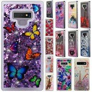 For Samsung Galaxy Note 9 Liquid Glitter Quicksand Hard Case Cover