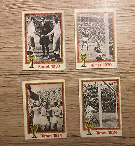 Panini Munchen 1974 Lot 4 Stickers - 17 21 22 49 Rimet 1930 1934 1970