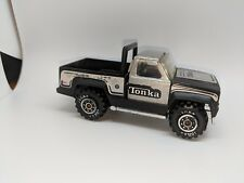 Tonka Fleetside Truck in Black and Metallic Silver 4x4 with Roll Bar Cool Toy