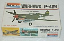 WARHAWK P-40N~1/72~Famous Curtiss-built AF Plane~Monogram~#6792 ~NEW Sealed