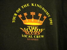 Moody Blues Tour of the Kingdoms 1991 Local Crew Rare T Shirt Xl Black