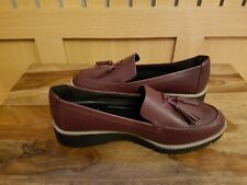 M&S CollectionWide Fit Leather Tassel Loafers UK SIZE 7