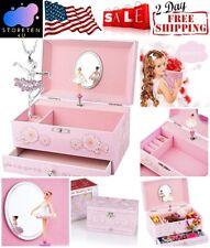 Kids Musical Jewel Storage Holder Ballerina Music Box Cute Drawer Swan Lake Tune