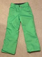 Volcom Women Let it Storm Snowboard Pants Large L Neon Green Read Description