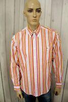 Camicia LACOSTE Uomo Shirt Manica Lunga Multicolor Cotone Chemise Taglia Size XL