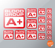 Blood Group Stickers. Personal Blood Type Decals. Mixed Size Set Self Adhesive.