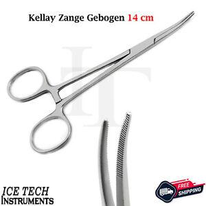 Kelly Pinzette Nadelhalter gebogen 14 cm Nahtmaterial Chirurgie Piercing OP