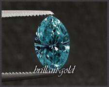 Natürlicher Diamant im Navette Schliff 0,44 ct mit Zertifikat, intensiv blau