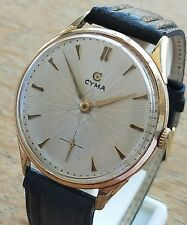 Watch CYMA Over Sized 41,5mm. Cal. 786K Gold Plated Hand Winding Swiss