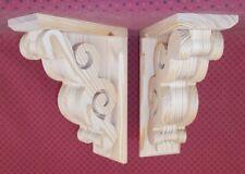 Pair of Victorian Design Wood Corbels (#6108D)
