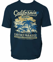 California Beach T Shirt Mens Surfing Surf S 3xl Top Paradise Tshirt Ride  S-3XL