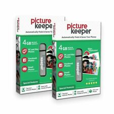 Picture Keeper 4GB Flash USB EASY Backup/ Storage Device for Computers-(2x Pack)